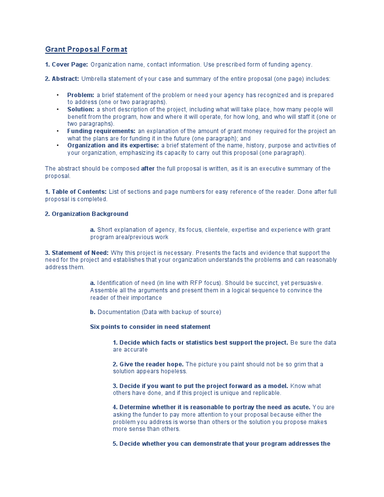 grant proposal template word .