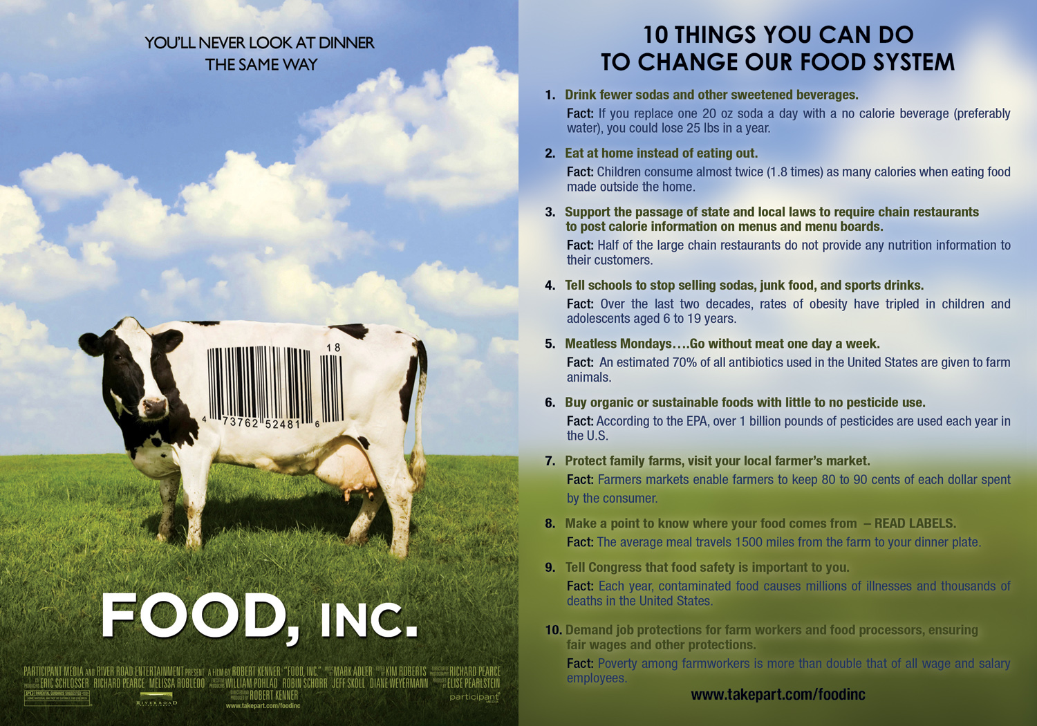 food inc video response essay Food inc dollar menu assignmentdocx135 kb  i put together a response  paper where the students play the role of agricutlure advocate in.