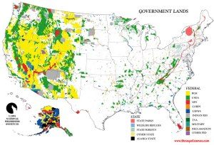 Federal Lands map